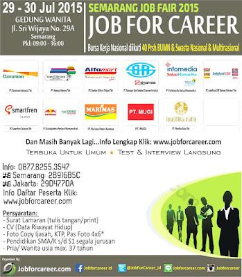 Jadwal Job Fair di Semarang Juli 2015