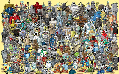 A compilation of famous fictional robots.