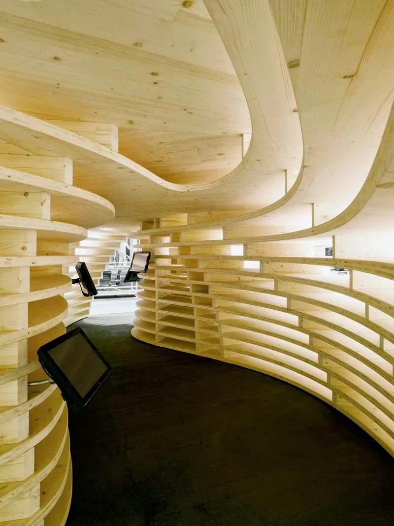 Orgánicas estructuras seccionadas en la arquitectura