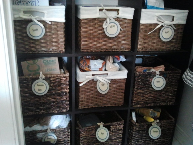 Organization Inspiration: Pantry Basket Labels And Linen Closet Labels