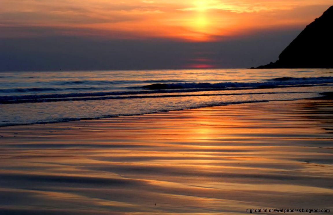 beautiful beach sunset beautiful wallpapers hd | high definitions