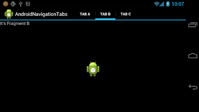 ActionBar in Tab navigation mode