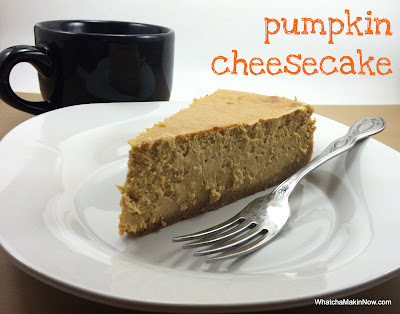 The BEST Pumpkin Cheesecake!