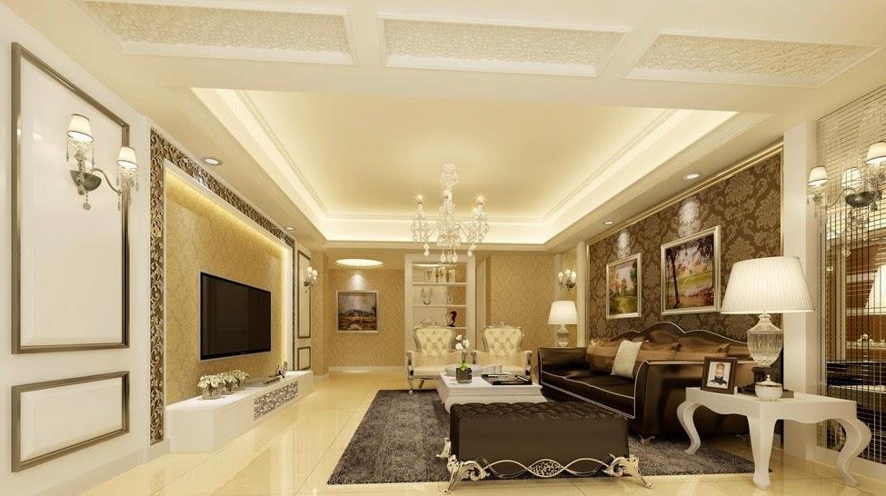Дизайн потолка в классике