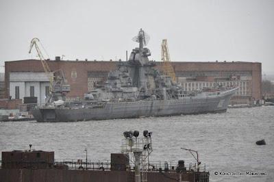 крейсер Нахимов в Севмаше