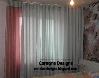 make eyelet curtain for bedroom, pink and grey curtain designs