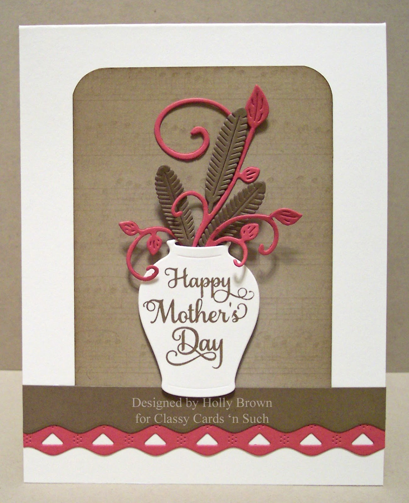 Classy cards 39 n such feathers in vase mother 39 s day card for Classy mothers day cards