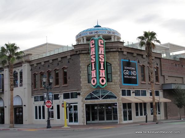 exterior of Downtown Grand Casino Hotel in Las Vegas, Nevada