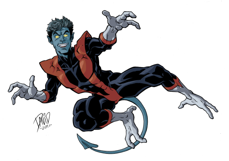Nightcrawler Marvel With Tail Variant 2 Minecraft Skin