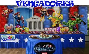DECORACIÓN CON TELAS CON LOS VENGADORES decoracionesparafiestasinfantiles.blogspot.com/