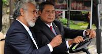 Indonesian President SBY and Timor-Leste Prime Minister Xanana