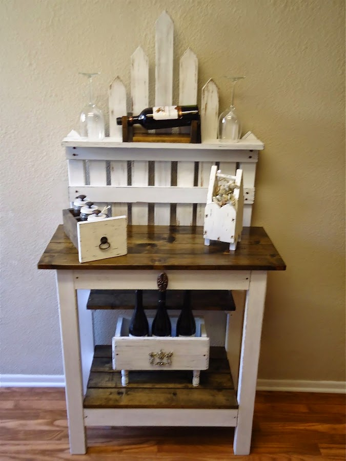 Picket Fence Accent Table - SOLD
