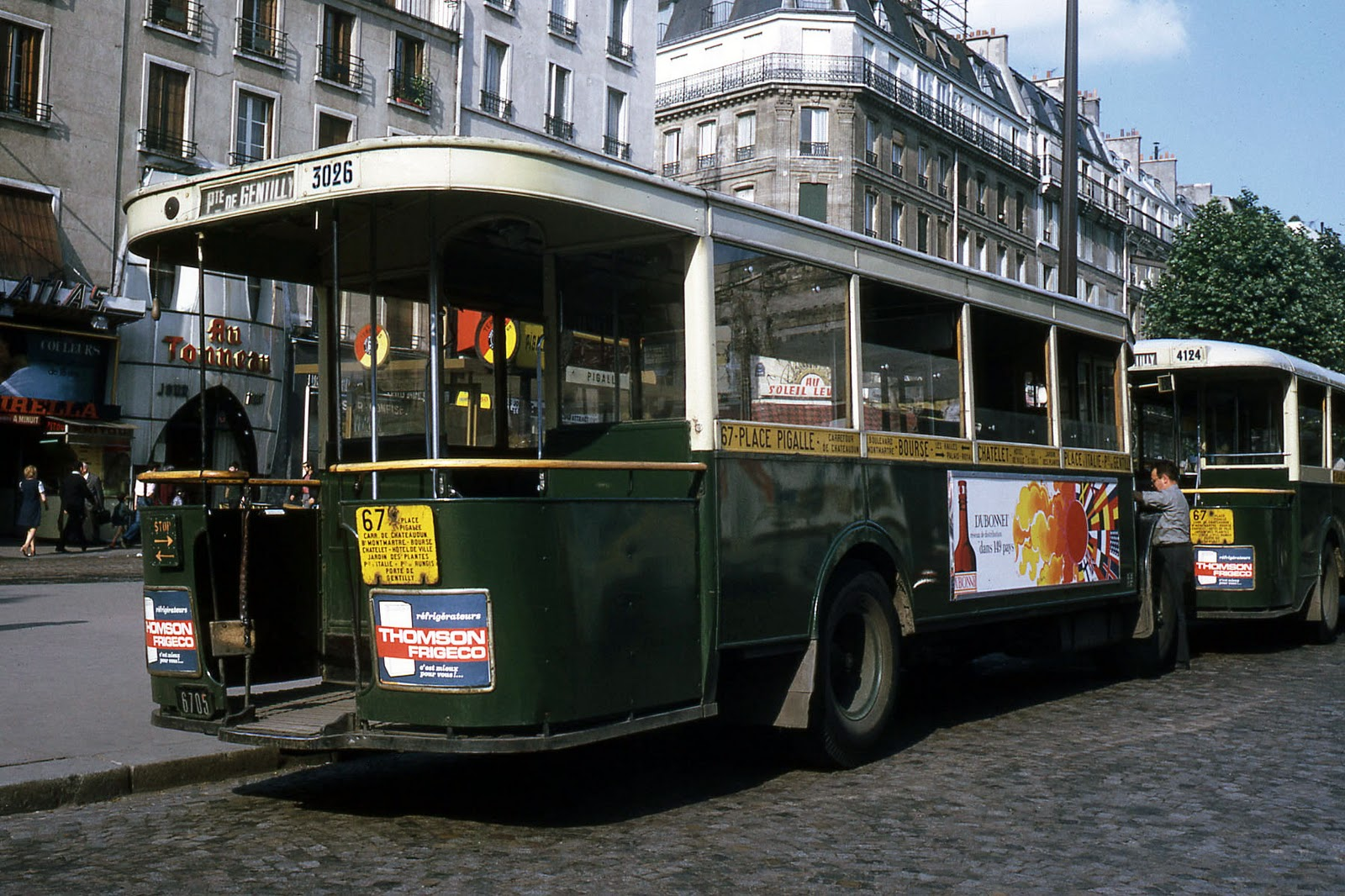 transpress nz  classic renault buses in place pigalle  paris