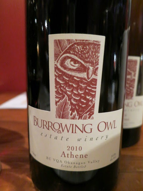 Wine Review of 2010 Burrowing Owl Athene from BC VQA Okanagan Valley, British Columbia, Canada (91 pts)