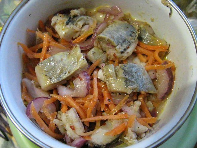 Рыба хе с морковью рецепт