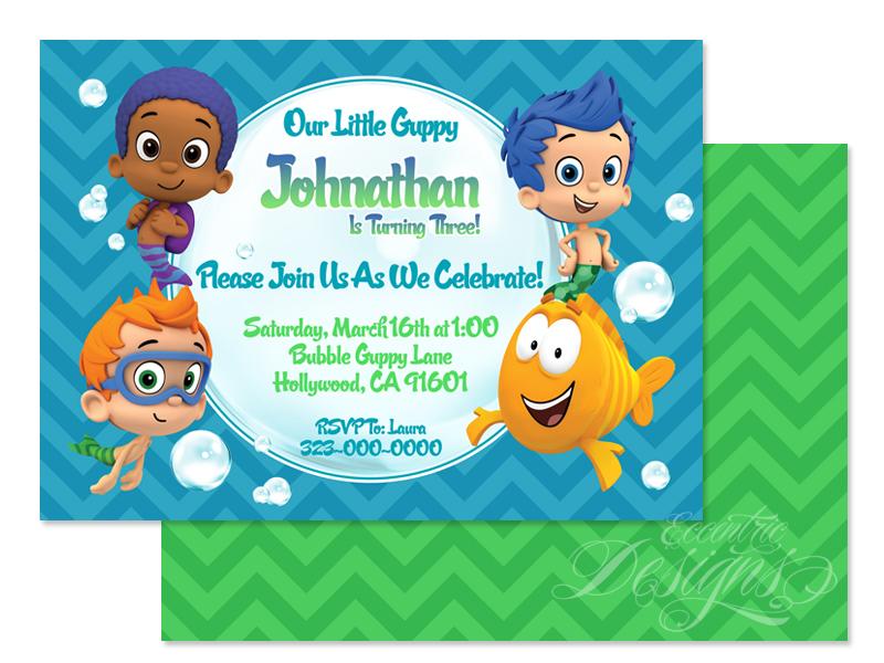 Eccentric Designs by Latisha Horton Bubble Guppies Birthday – Bubble Guppies Party Invites