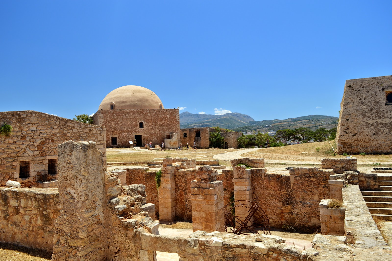 Fortezza inner view, an old fortress in Rethimno, Crete, Greece.