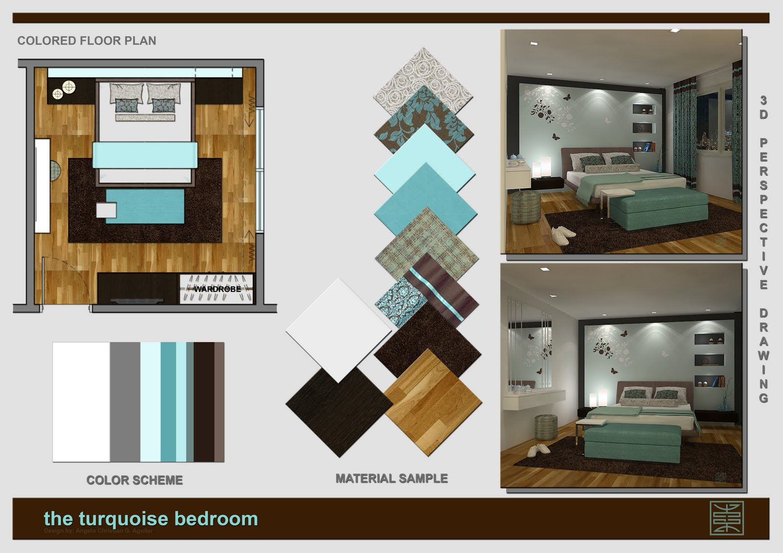 Angelo aguilar interior design portfolio the turquoise for Interior design portfolio