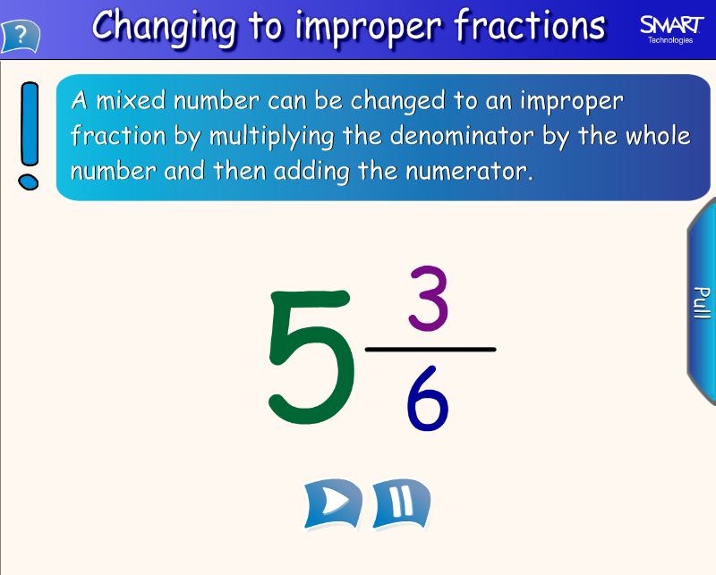 Mixed To Improper Fractions | New Calendar Template Site