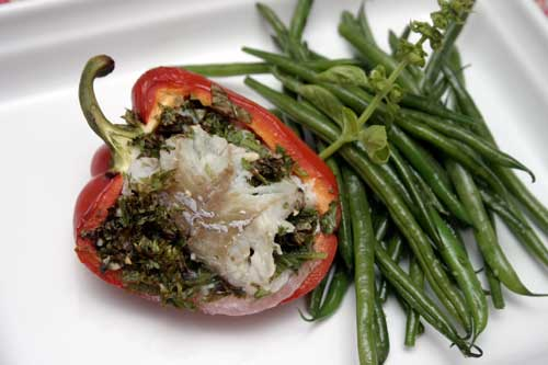 Steamed Stuffed Chillies