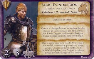 Carta de referencia de Beric Dondarrion, el Señor del Relámpago