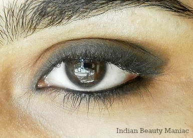 Eye makeup with Brown Eyeshadow and kohl