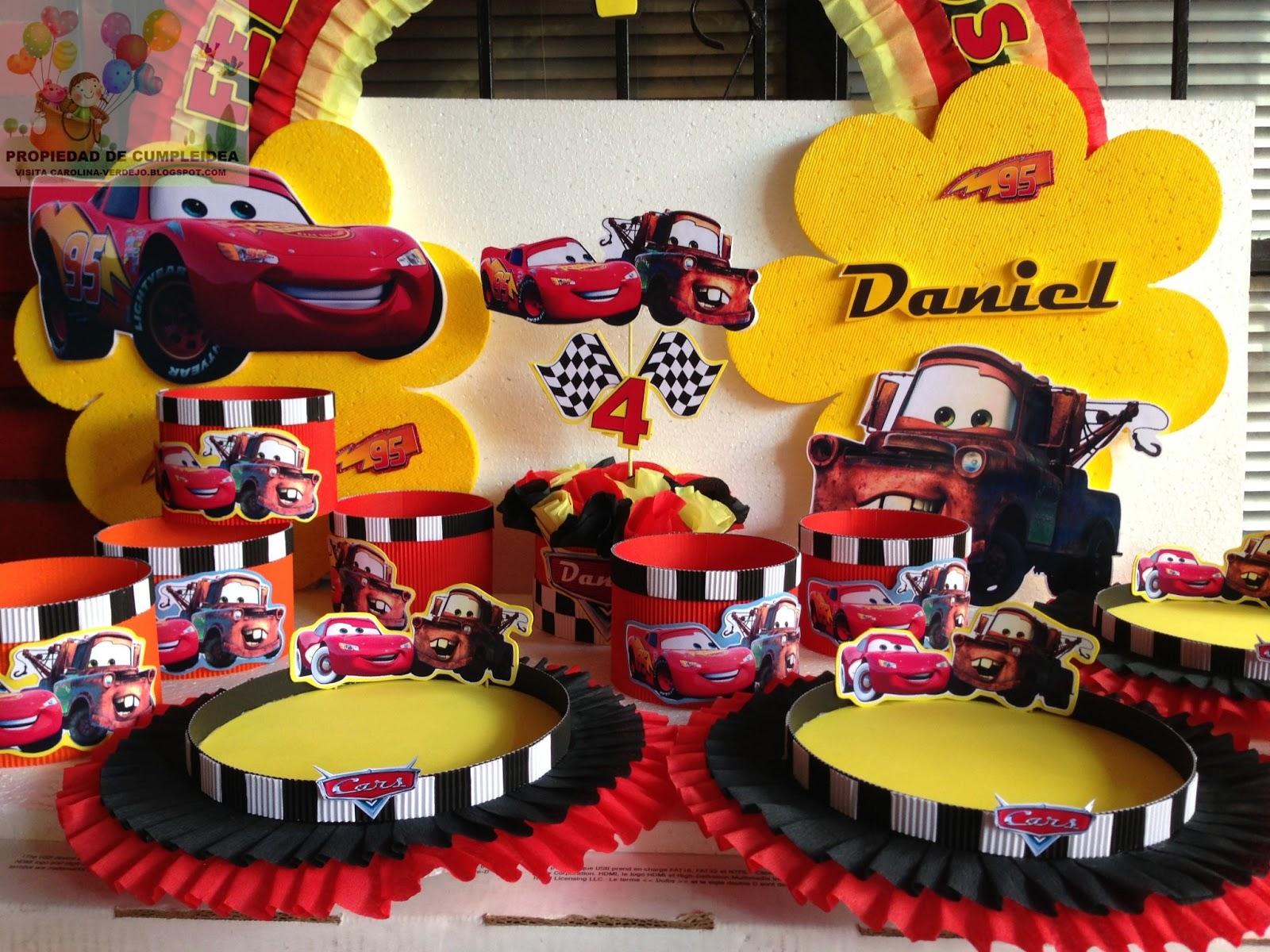 Decoraciones infantiles cars for Decoracion de mesa de cumpleanos