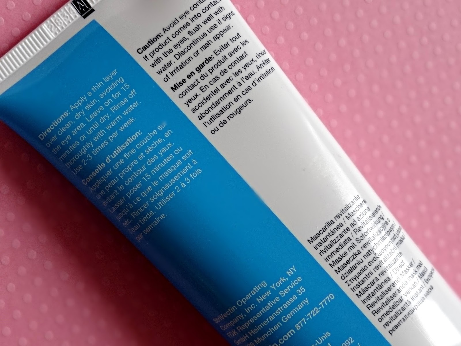 StriVectin Instant Revitalizing Mask Review, Photos