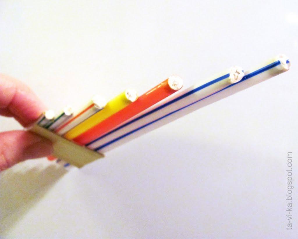 Флейта своими руками из бумаги фото