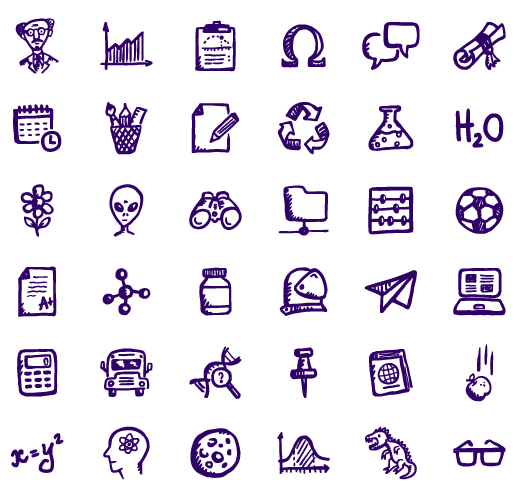 Brainy - free educational and sciece icon pack