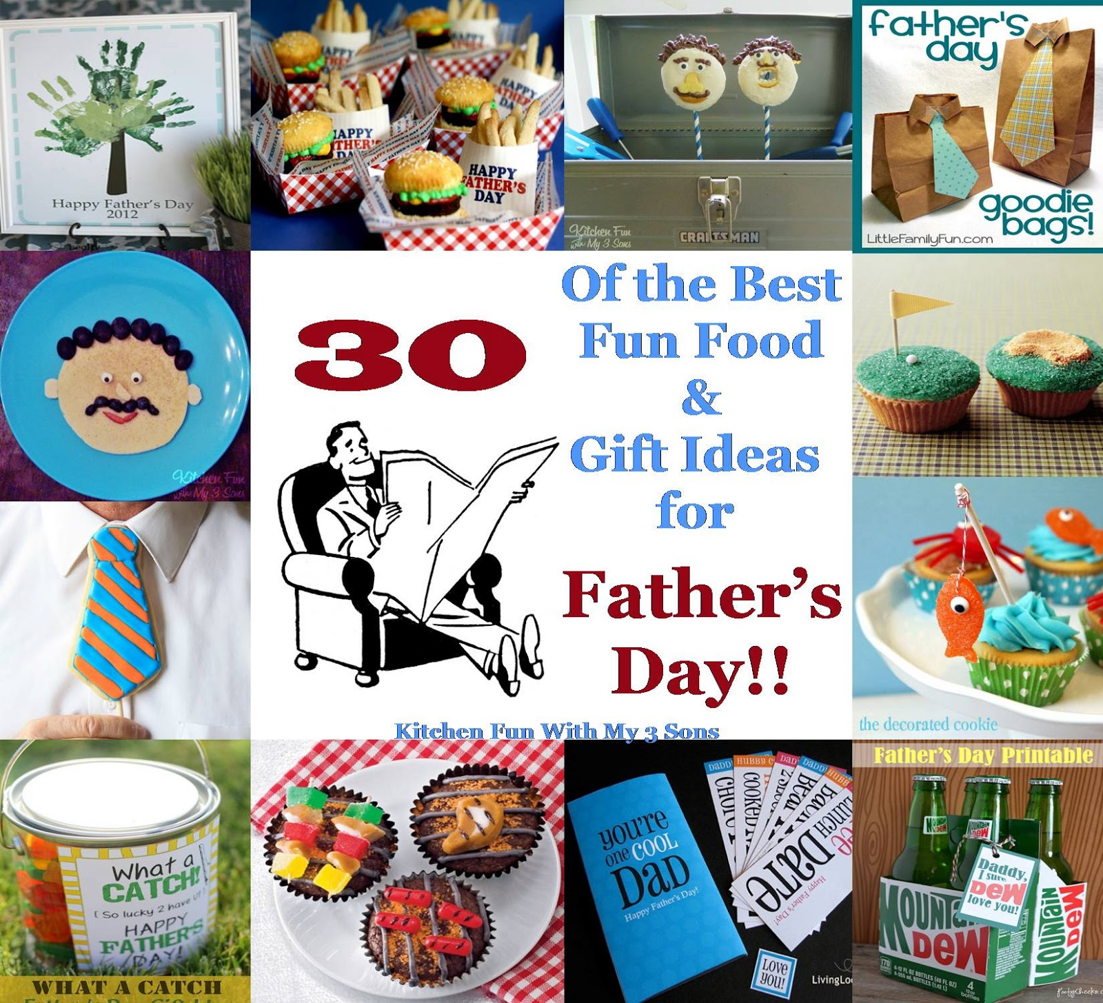 30 of the Best Fun Food & Gift Ideas for Father\'s Day!! - Kitchen ...