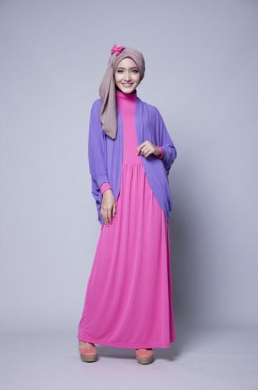 Contoh terbaru model pakaian muslim wanita modern 2015