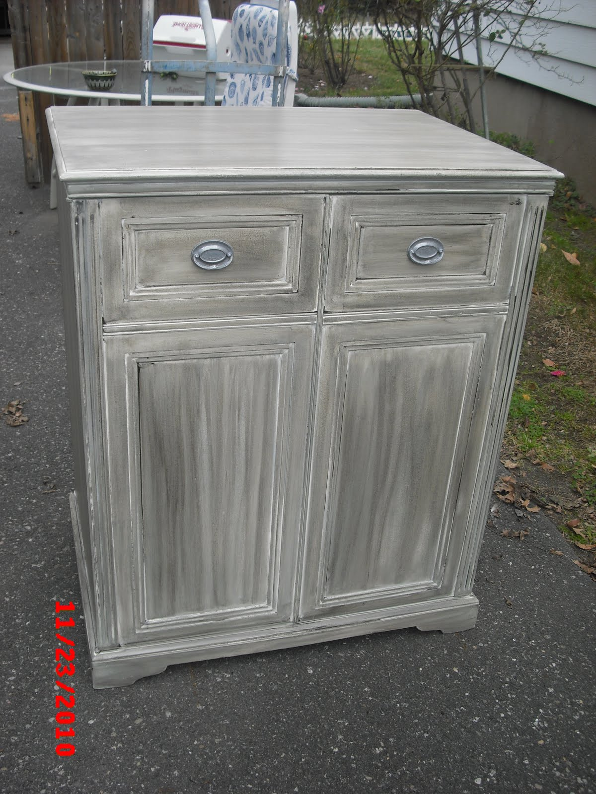 Gray White Wash Cabinets