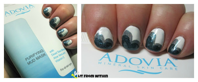 cloud mani inspired by Adovia Purifying Mud Mask