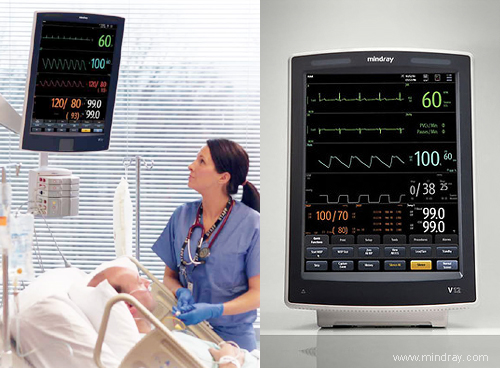 Mindray V Series Patient Monitor. Streamlined patient care.