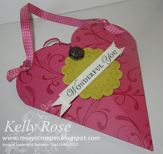 Petal Cone Valentine Treat bag with Everything Eleanor and Loving Thoughts stamp sets