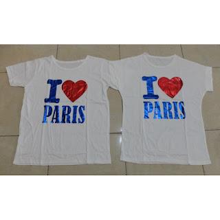 Jual CP I Love Paris Murah di Jakarta Bahan Katun Halus Keren Terbaru