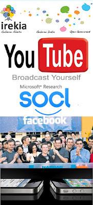 Software abierto en el Gobierno vasco, Youtube, Facebook en Bolsa y so.cl