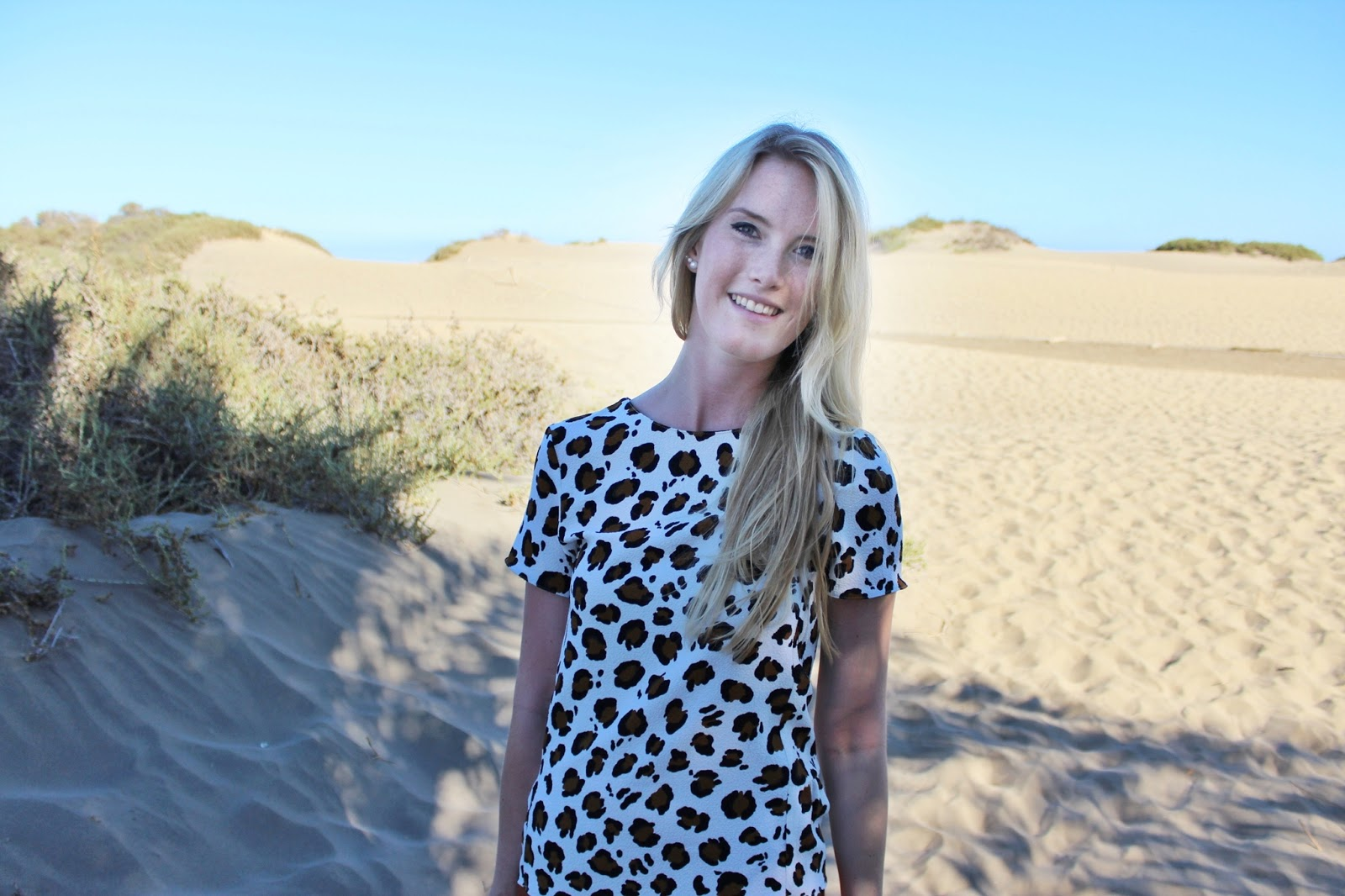 Maspalomas Dünen dunes Leopard Outfit Maxirock TheBlondeLion