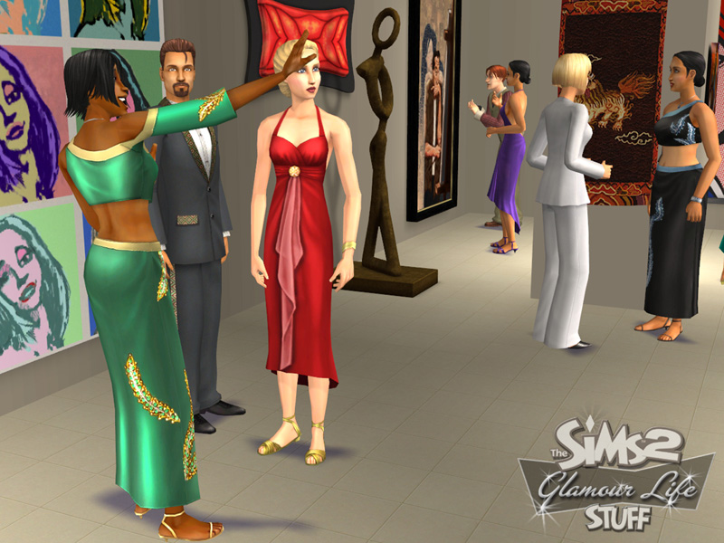 Скриншот к игре Sims 2: Glamour Life Stuff, The (Sims 2 Гламурная