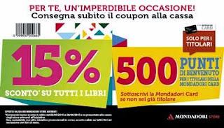 Buono sconto 15% libri Mondadori