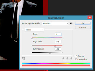 borde para fotos tono y saturacion