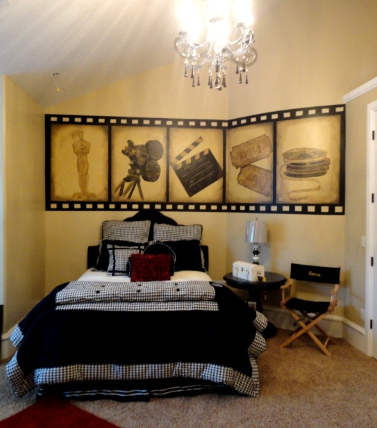 Wall Bed Designs Hollywood Fl : Bawden fine murals holly wood themed room for a teen girl