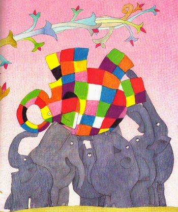 Ilustración de Elmer , de David Mkee