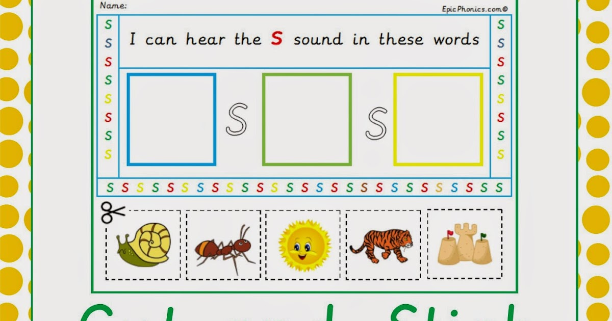 Simply Kids Learning Phase 2 Phonics Cut And Stick