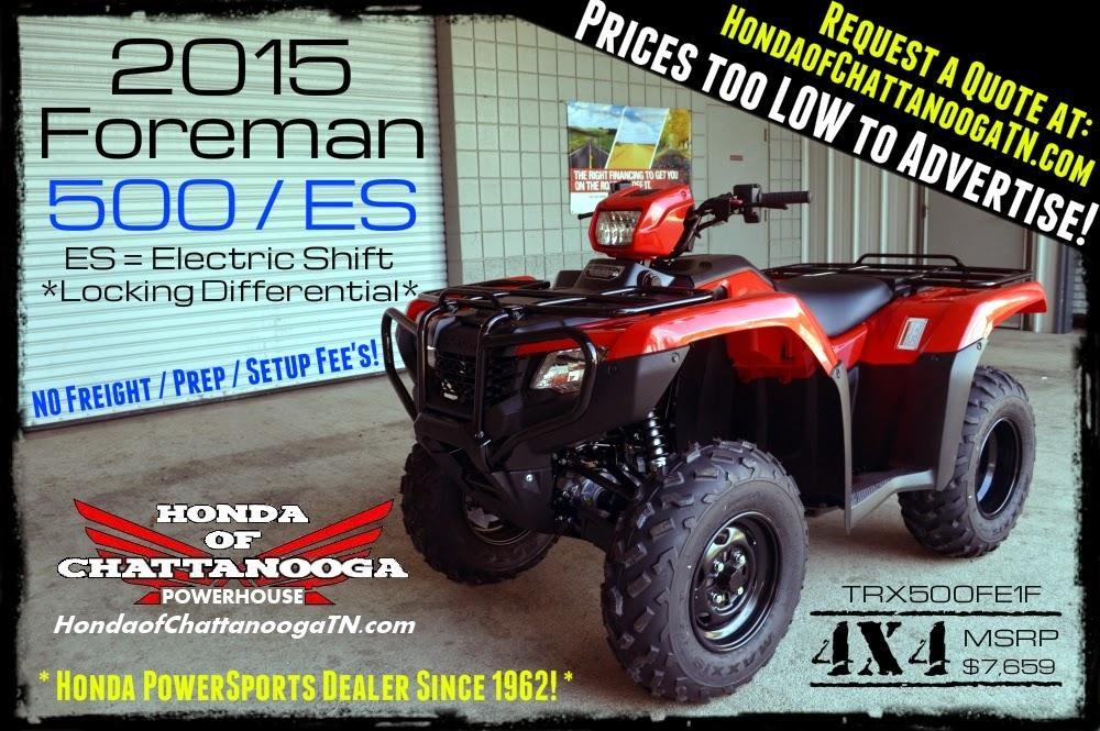 2015 Foreman 500 ES Foreman For Sale Chattanooga TN GA AL / TRX500FE1F