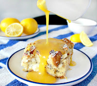 Lemon Poppyseed Cream Cheese Bread Pudding