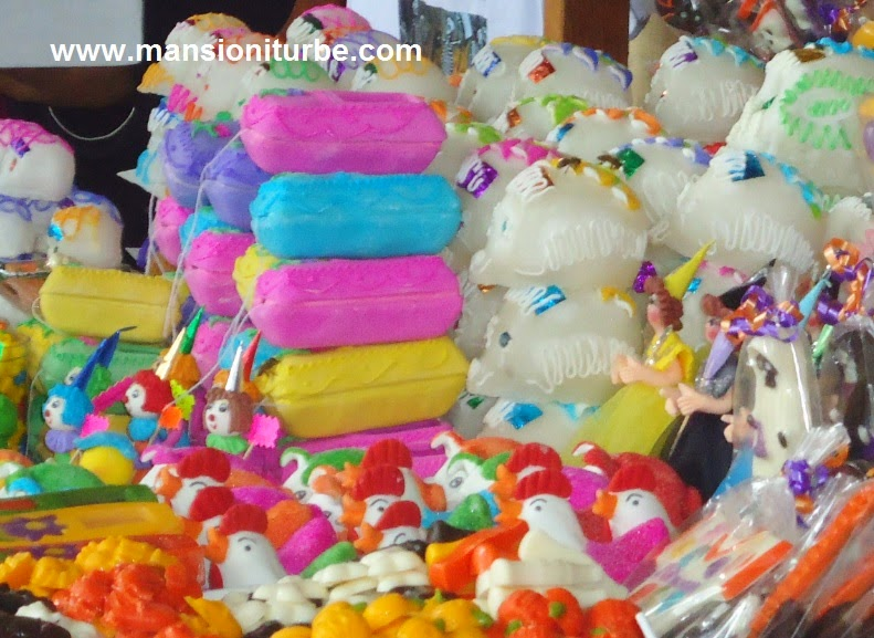 Sugar Skulls in Pátzcuaro during the Day of the Dead season