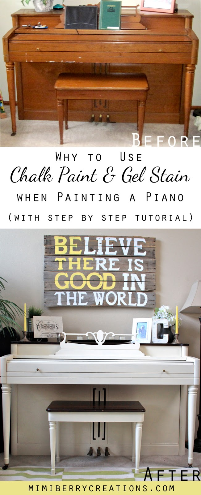 mimiberry creations: Drab to Fab Piano Transformation using Chalk ...