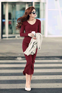 How to wear Marsala Dress